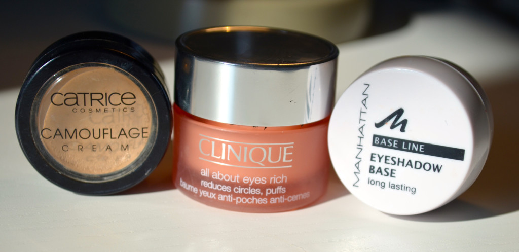 Catrice Camouflage, All about eys rich clinique, manahtten base