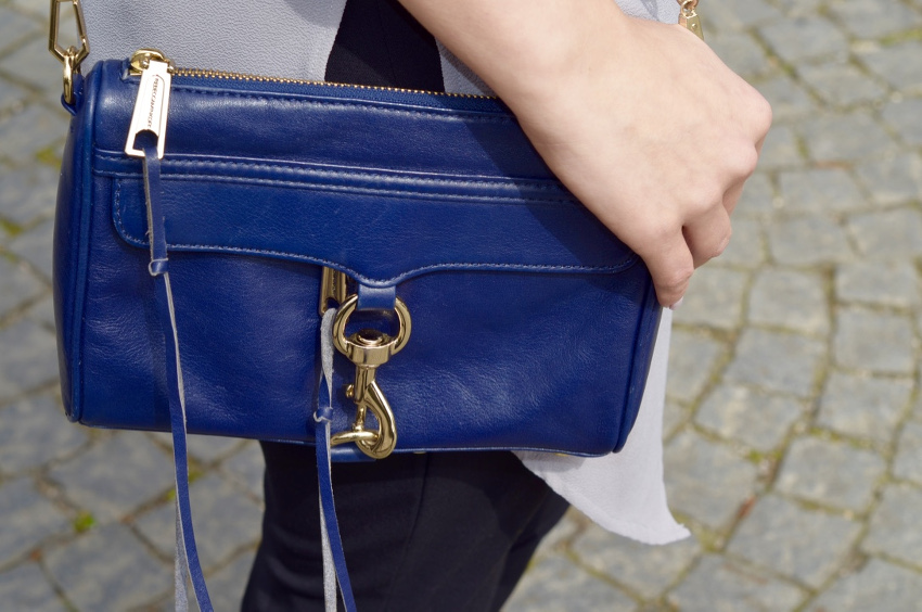 Rebecca Minkoff Mini Mac Navy Blue