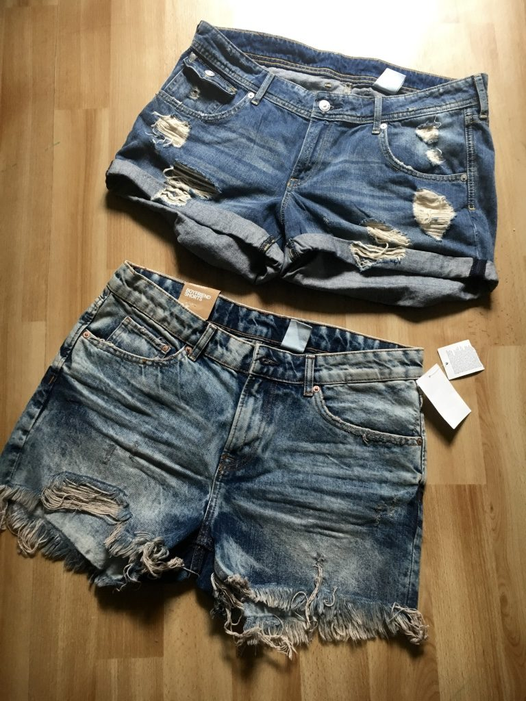 Ripped Jeans Shorts H&M